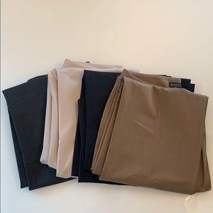 """Bundle of 4 Lafayette 148 """"Menswear"""" wool pants"""